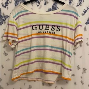 Rainbow Striped guess T-Shirt